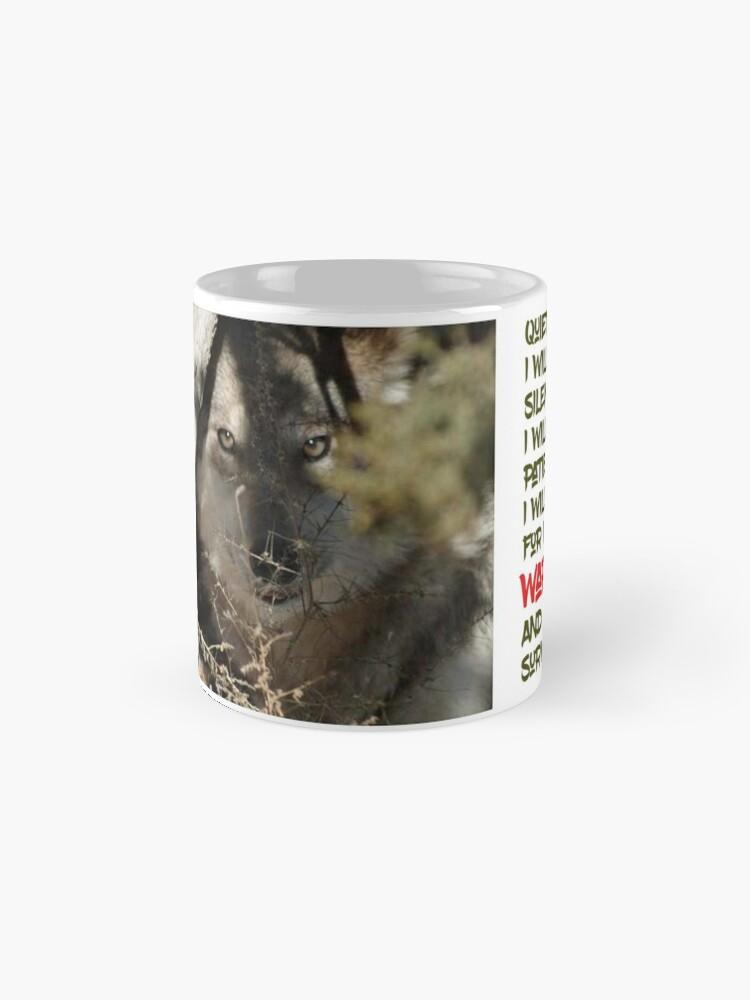 Alternate view of I Am Wolf Mug