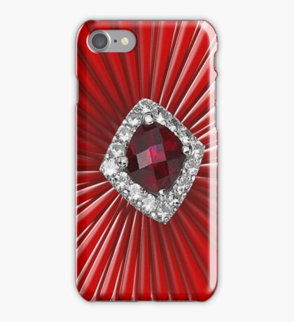 Red Pattern with a ruby  (2738 views) iPhone Case/Skin