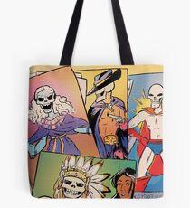 Skull-Headed Heroes Tote Bag