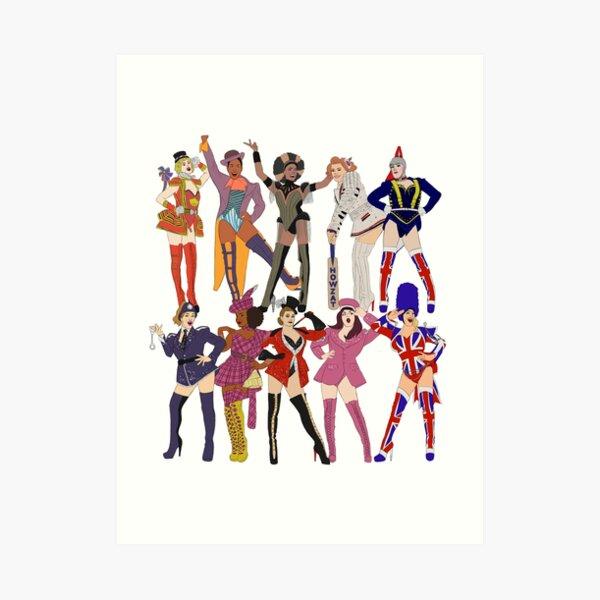 Kinky Boots Angels Art Print