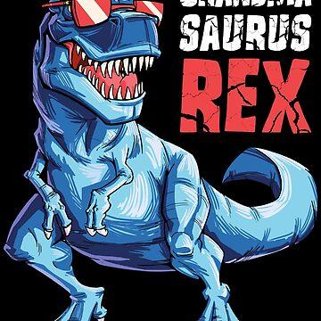 Grandmasaurus T shirt T rex Grandma Saurus Dinosaur Grandmom de LiqueGifts