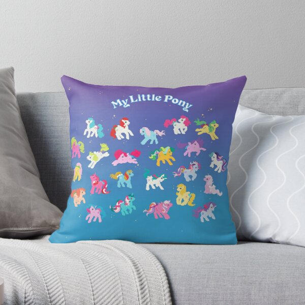 My Little Pony g1 Throw Pillow