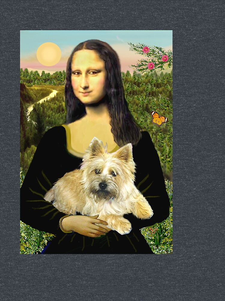 Mona Lisa and her Cairn Terrier (wheaten #6) by JeanBFitzgerald