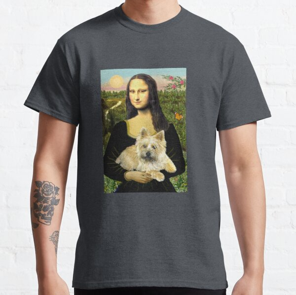 Mona Lisa and her Cairn Terrier (wheaten #6) Classic T-Shirt