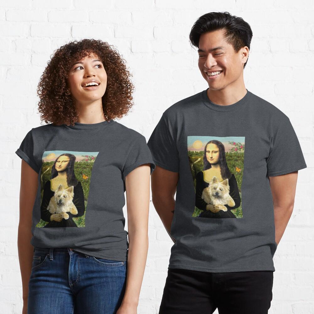Mona Lisa and her Cairn Terrier (wheaten #6) Classic T-Shirt