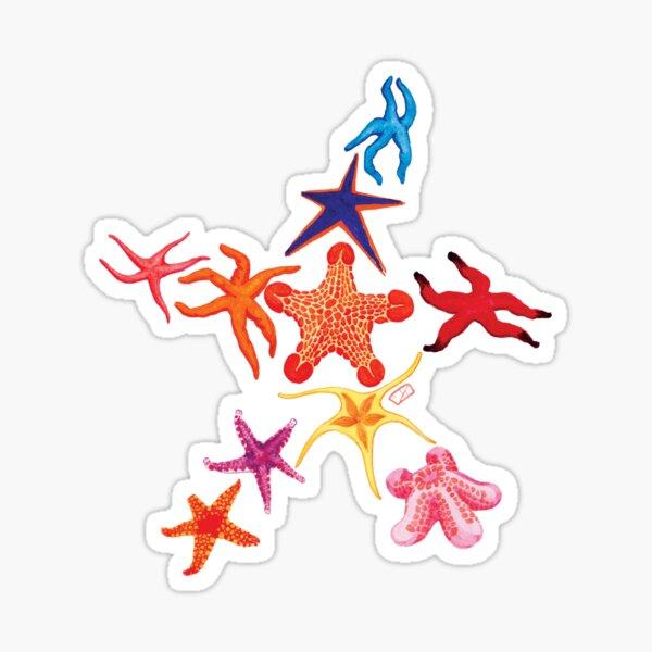 Many Mini Starfish Sticker