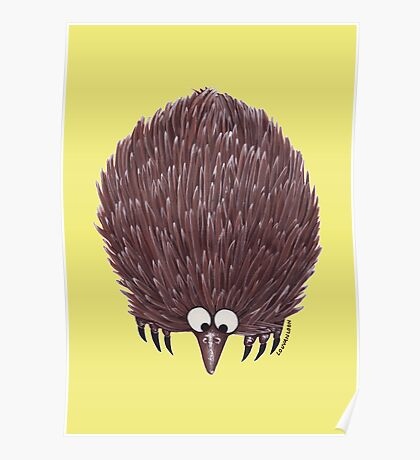 Echidna Pale Yellow Poster