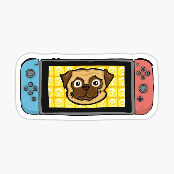 Pugtendo Switch Sticker