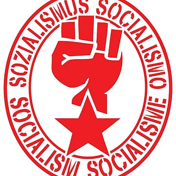 Socialist Raised Fist and Red Star by NeoFaction