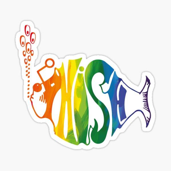 Brush Color Phish design Sticker