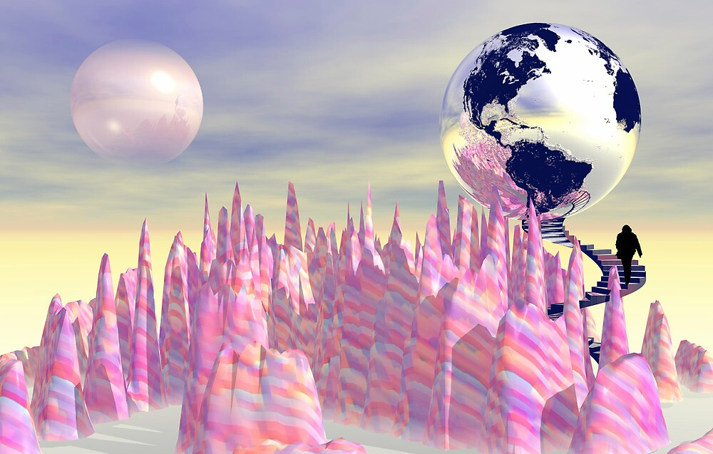 The Pink Planet by walstraasart