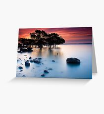 Sunset at Tenby Point Greeting Card