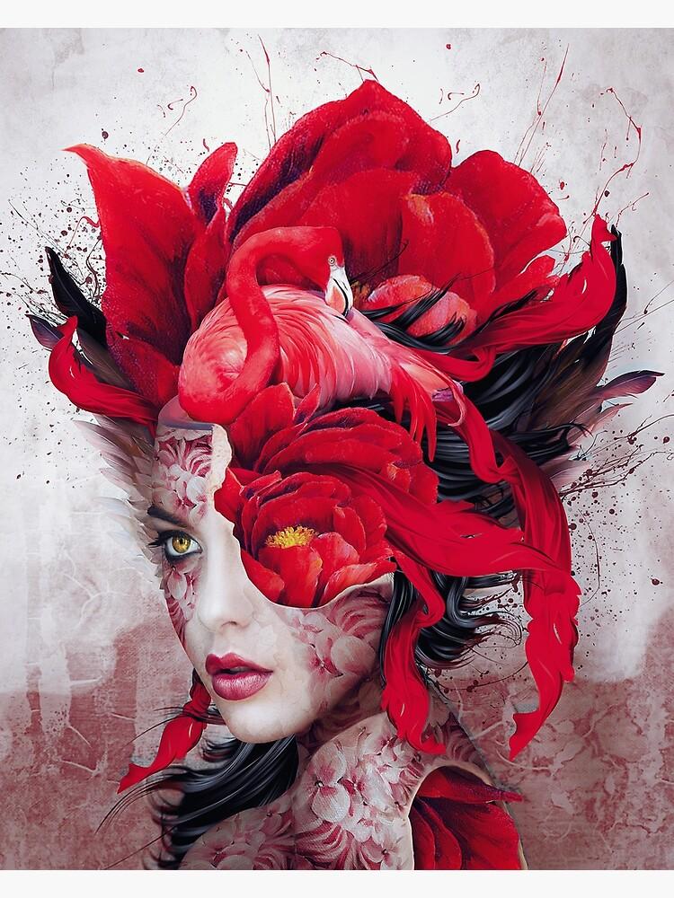 Flamingo Lady by rizapeker