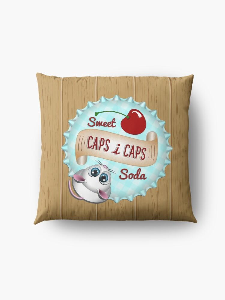 Alternate view of Caps i Caps - Game Floor Pillow