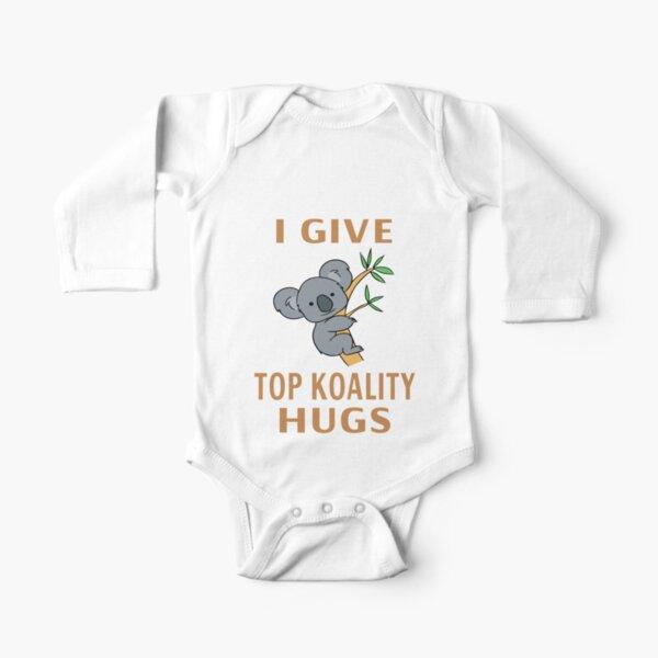 I Give Top Koality Hugs Long Sleeve Baby One-Piece