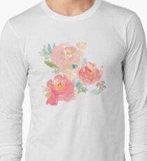 Peonies Watercolor Bouquet T-Shirt