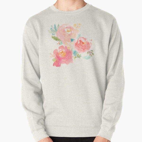Peonies Watercolor Bouquet Pullover Sweatshirt