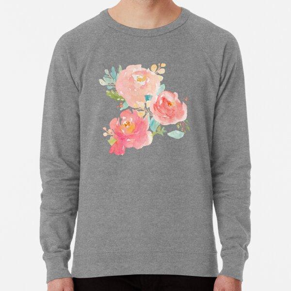 Peonies Watercolor Bouquet Lightweight Sweatshirt