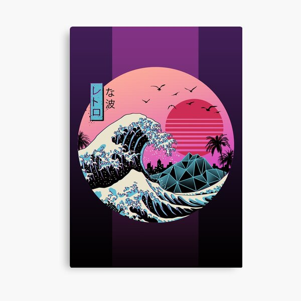 The Great Retro Wave Canvas Print
