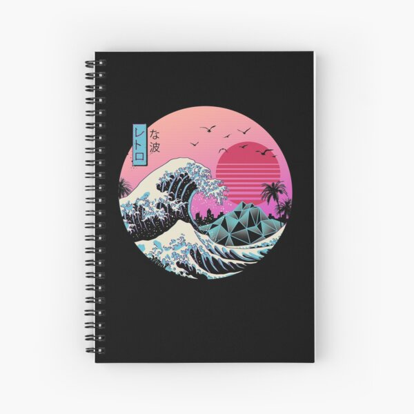 The Great Retro Wave Spiral Notebook