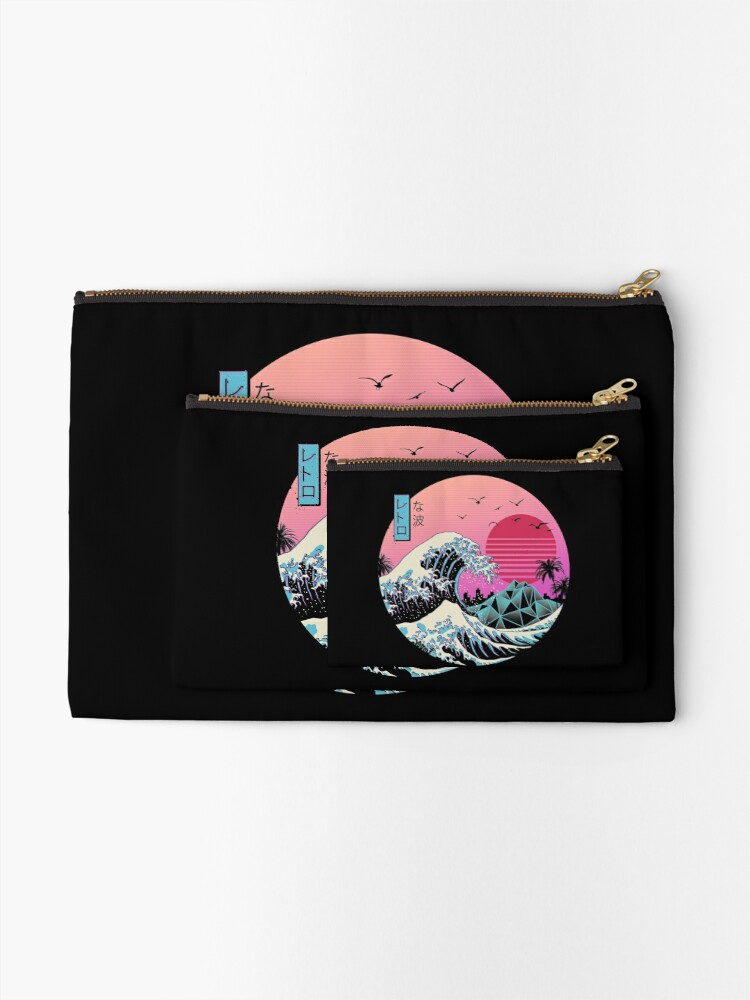 Alternate view of The Great Retro Wave Zipper Pouch