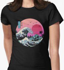 Die große Retro-Welle Tailliertes T-Shirt