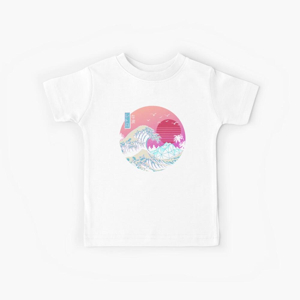 Die große Retro-Welle Kinder T-Shirt