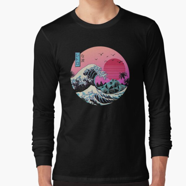The Great Retro Wave Long Sleeve T-Shirt