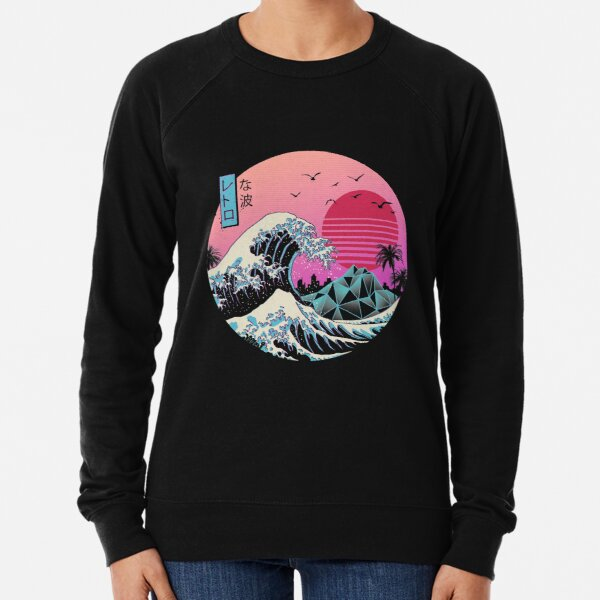 La grande vague rétro Sweatshirt léger