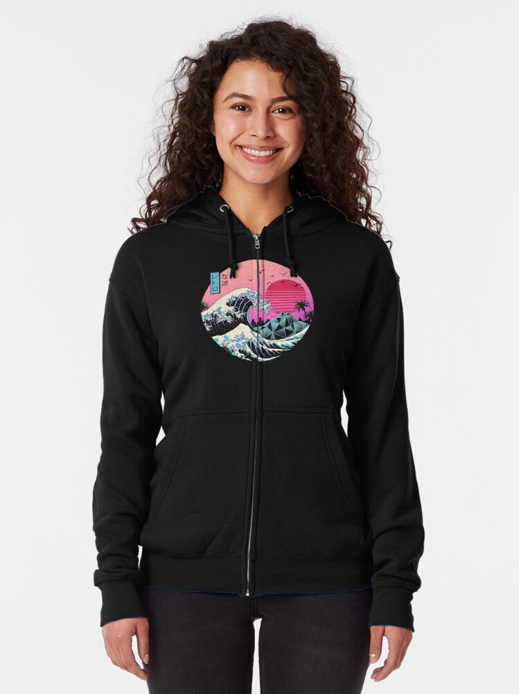 Alternate view of The Great Retro Wave Zipped Hoodie