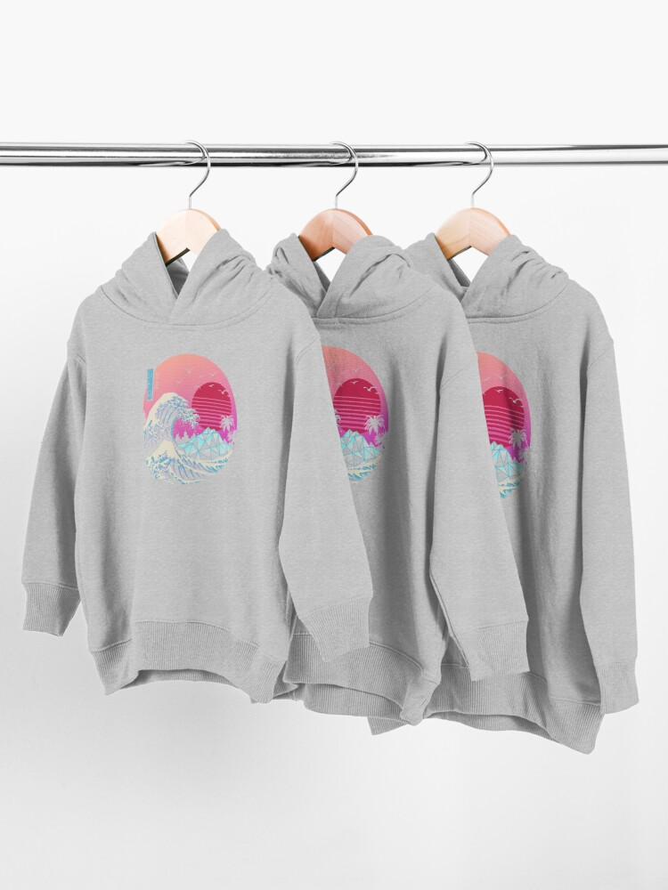 Alternate view of The Great Retro Wave Toddler Pullover Hoodie