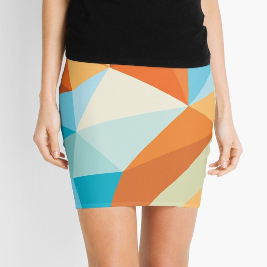 Shard – Gold Fish Mini Skirt