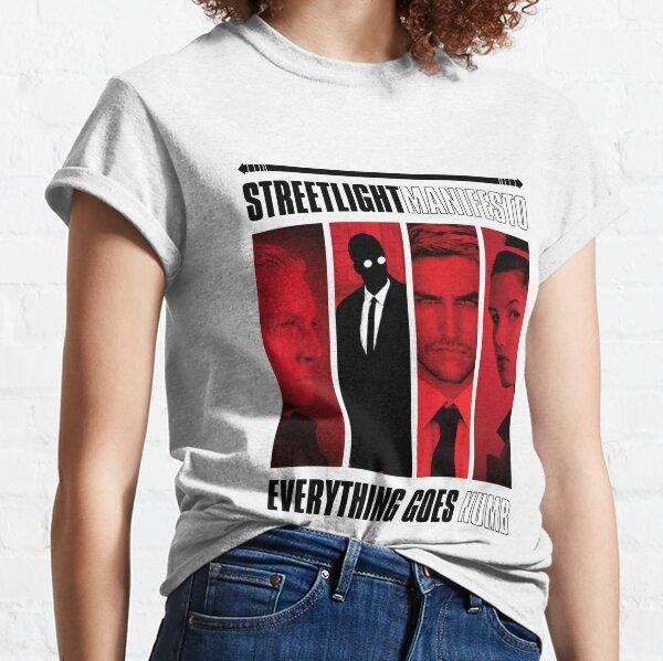 Straßenlaterne Alles geht ins Nackte Manifest Classic T-Shirt