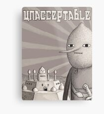Unacceptable: Castle Lemongrab Metal Print