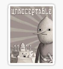 Unacceptable: Castle Lemongrab Sticker