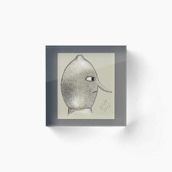 Lemongrab Profile Acrylic Block