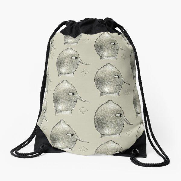 Lemongrab Profile Drawstring Bag