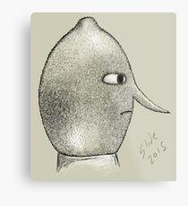 Lemongrab Profile Metal Print