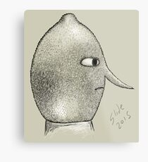 Lemongrab Profile Metal Print