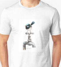Superb Blue Wren Perched on Garden Tap Unisex T-Shirt