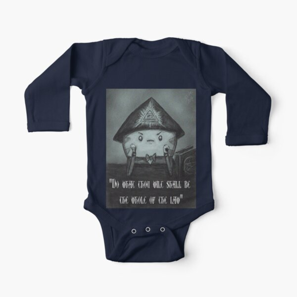 Peppermint Butler Long Sleeve Baby One-Piece