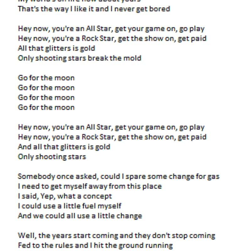 All Star - Lyrics