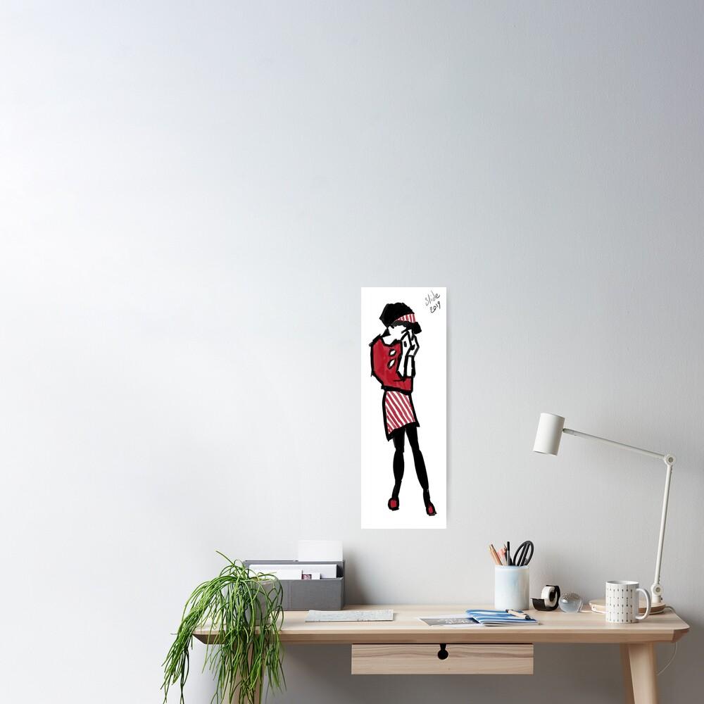 Sad Ska Girl Poster
