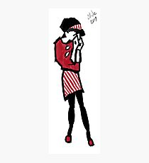 Sad Ska Girl Photographic Print
