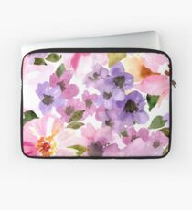 Watercolor Flowers Laptop Sleeve