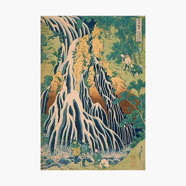 Hokusai Pilgrims at Kirifuri Waterfall Japanese Art Photographic Print