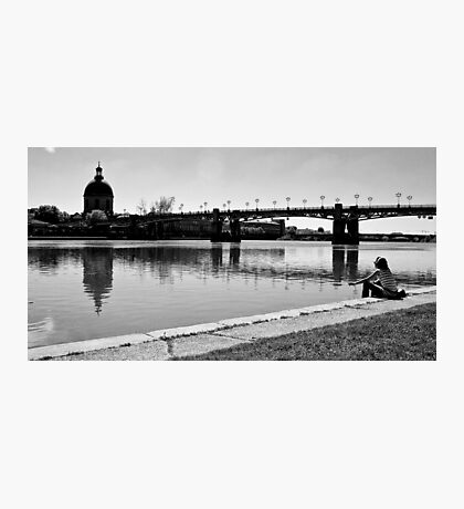 Lonely woman Photographic Print