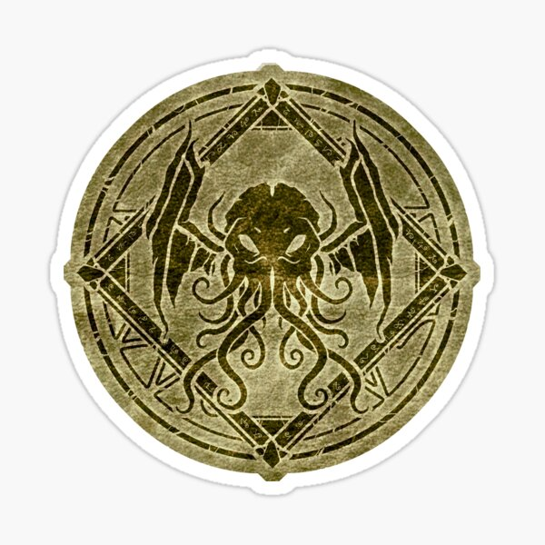 Cthulhu design - Old leather Sticker