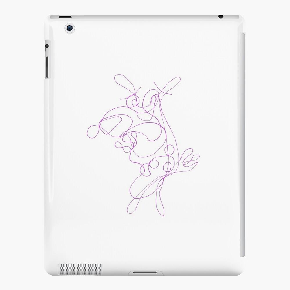 Mut zum feigen Hund Strichzeichnung iPad-Hüllen & Klebefolien