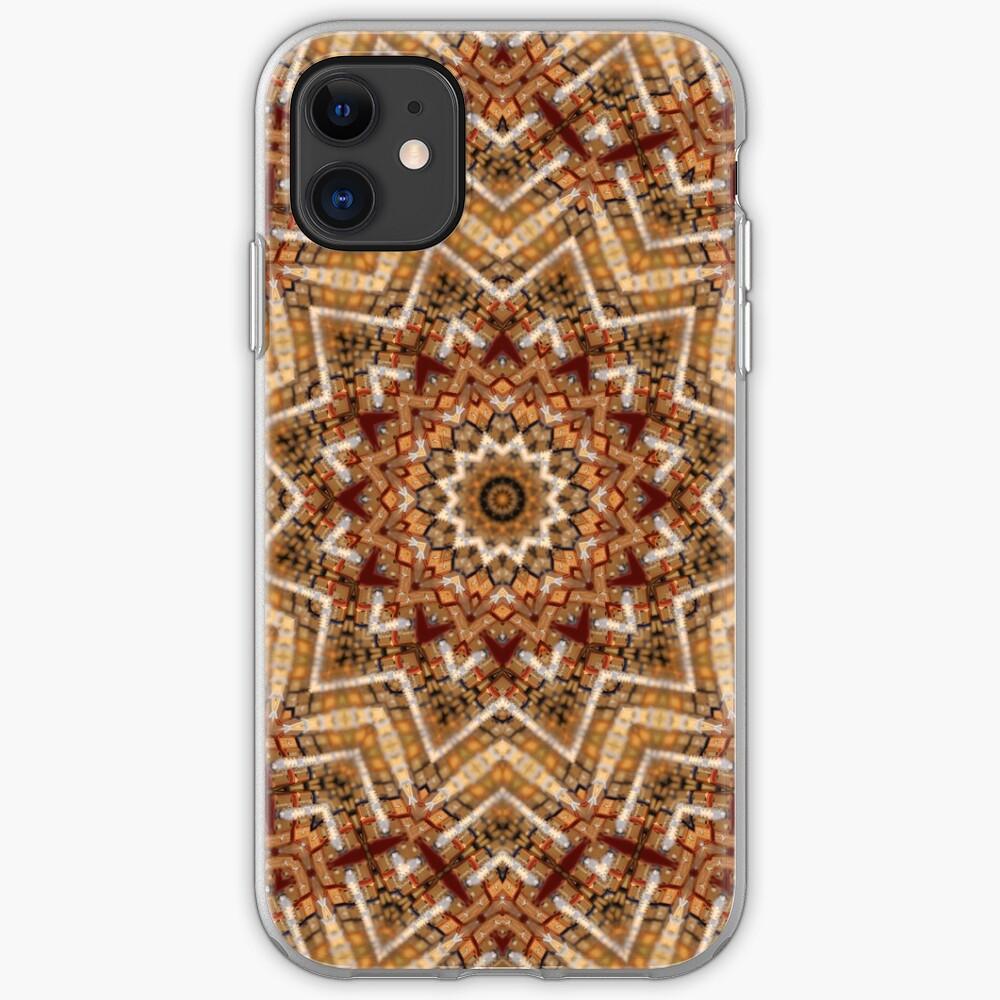 Hell- und dunkelbraunes Mandala iPhone-Hülle & Cover